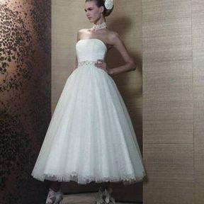 Robe de mariée 2013 en tulle © Pronuptia
