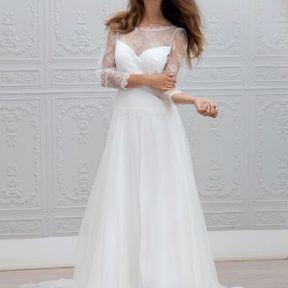 Robe de mariée blanche 2015 @ Marie Laporte