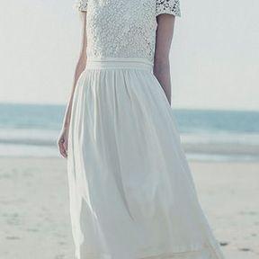 Robe de mariée blanche Laure de Sagazan printemps été 2014