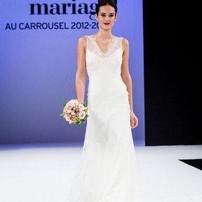 Robes de mariage 2013 en soie © Le Salon du mariage