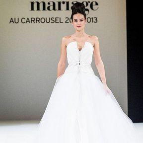 Robes mariages 2013 en tulle © Le Salon du mariage