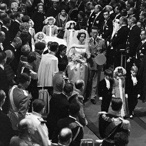 BELGIQUE : Le mariage du Roi Baudoin I et Fabiola en 1960