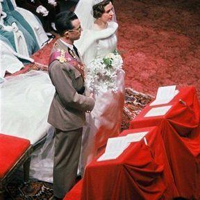 BELGIQUE : Le mariage du Roi Baudoin I et Fabiola