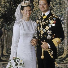 La photo de mariage du roi Carl Gustaf et de la reine Silvia en 1976