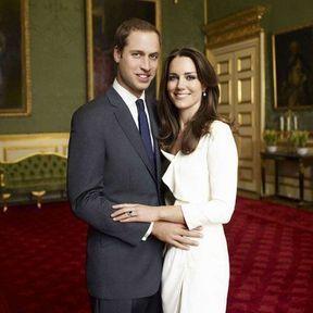 Les futurs mariés : le Prince William et Kate Middleton