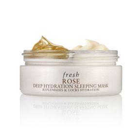 Masque de nuit hydratant à la rose de Fresh
