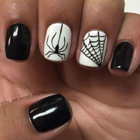 Nail art araignée