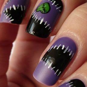 Nail art Halloween cicatrice