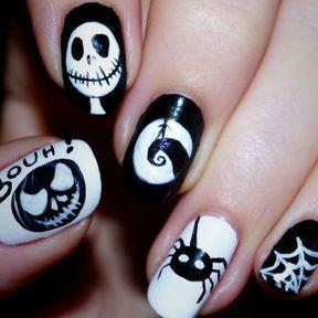 Nail art Halloween L'étrange Nöel de Mr Jack