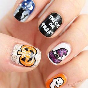 Nail art Halloween Trick or Treat