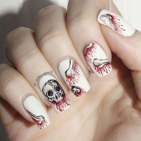 Nail art squelettes