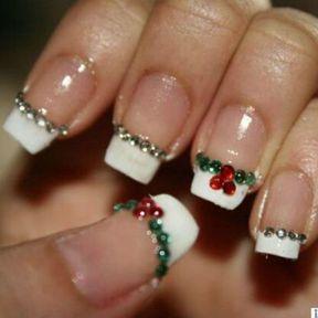 Décoration ongle Noël