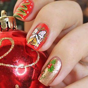 Idée déco ongles pour Noël