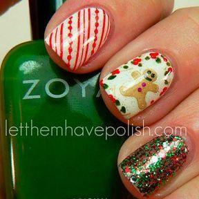 Idée nail art pour Noël