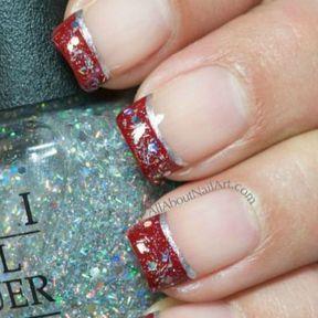 Nail art de Noël sur ongles
