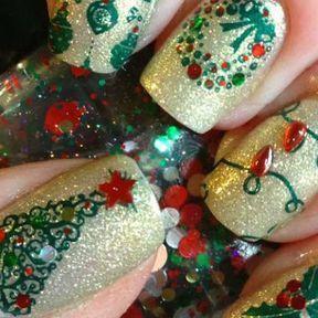 Nail art décorations Noël