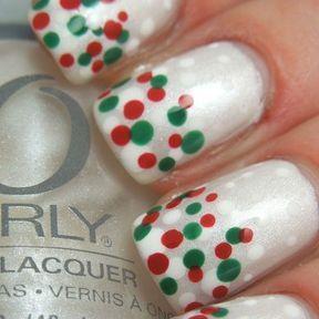 Nail art facile pour Noël