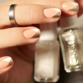 Nail art or et nude