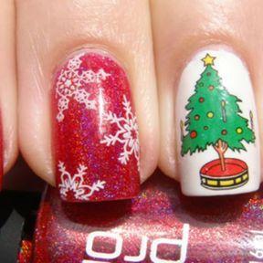 Nail art spécial Noël