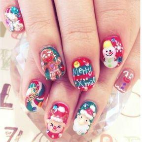 Ongles nail art Noël