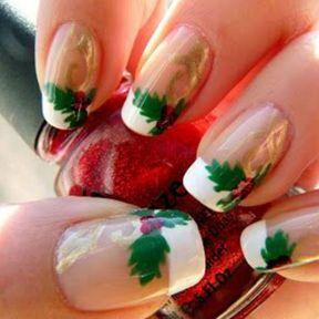 Photo nail art Noël