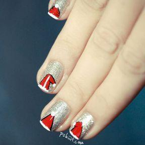 Photo nail art Père Noël