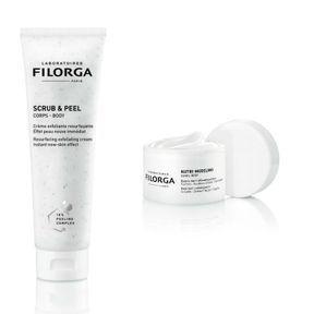 Scrub and peel + Nutri-modeling de Filorga