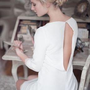Robe de mariage courte 2015 @ Fabienne Alagama