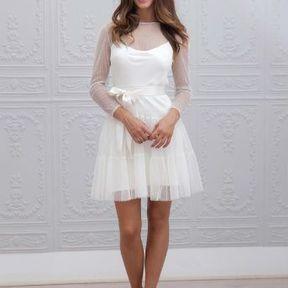 Robe de mariage courte 2015 @ Marie Laporte