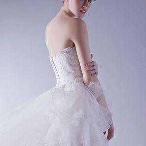 Robe de mariage courte Automne - Hiver 2015 @ Hervé Mariage