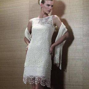 Robe de mariage courte en dentelle 2013 © Pronuptia