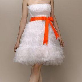 Robe de mariage courte en tulle 2013 © Max Chaoul