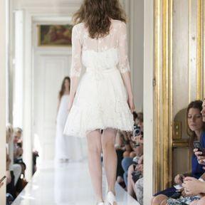 Robe de mariée courte dentelle 2013 © Delphine Manivet