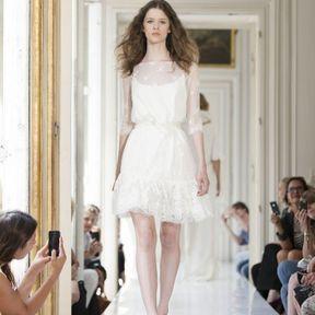 Robe de mariée courte en dentelle 2013 © Delphine Manivet