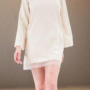 Robe de mariée courte en satin 2012 © Salon du mariage au Carroussel