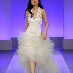 Robe de mariée courte en tulle 2013 © Cymbeline