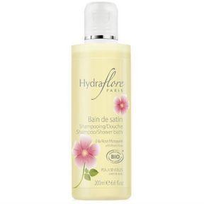 Le shampoing Bio Bain de satin à la rose musquée d'Hydraflore