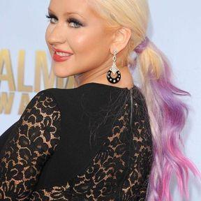 Le blond tie and dye : Christina Aguilera l'a adopté, aïe aïe aïe