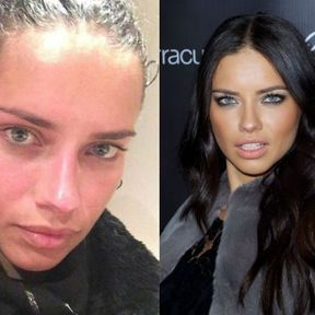 Adriana Lima sans maquillage