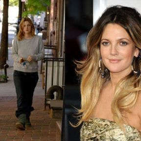 Drew Barrymore sans maquillage