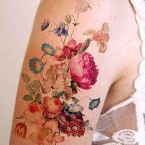 Les fleurs colorées