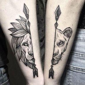 Tatouage animaux sur le bras