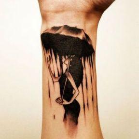 Modèle de tatouage poignet