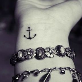 Tatouage ancre marine poignet