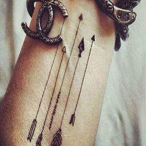 Tatouage flèche poignet