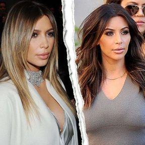 Kim Kardashian, blonde ou brune ?