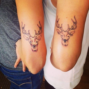 Le matching tattoo animal