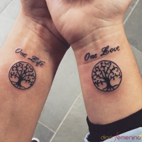 Le matching tattoo de l'arbre à vie