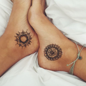 Le matching tattoo mandala