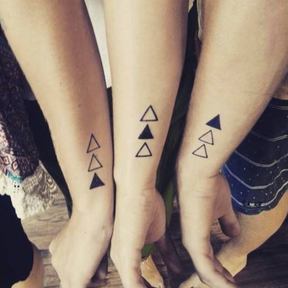 Le matching tattoo en trio